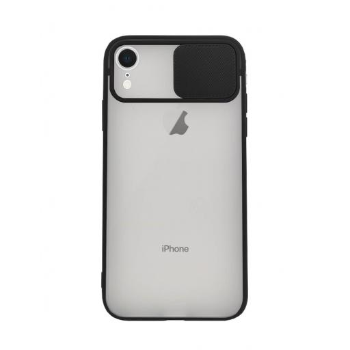 Apple iPhone XR Funda con Protección de Cámara Negro