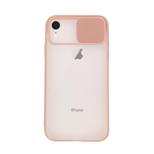 Apple iPhone XR Funda con Protección de Cámara Rosa