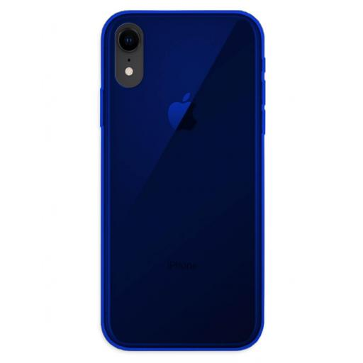 Apple iPhone XR Funda Silicona Azul