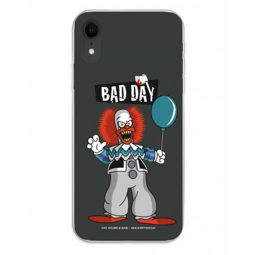 Apple iPhone XR Funda Silicona Bad Day Party [0]