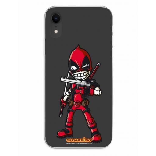 Apple iPhone XR Funda Silicona Calaveritas Red Devil [0]