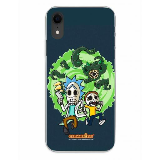 Apple iPhone XR Funda Silicona Calaveritas Scape