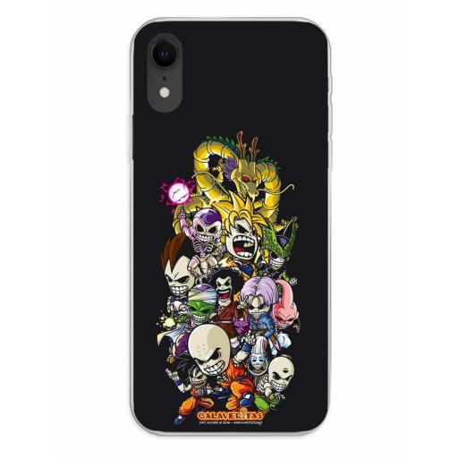 Apple iPhone XR Funda Silicona Calaveritas Skull Fighters 1