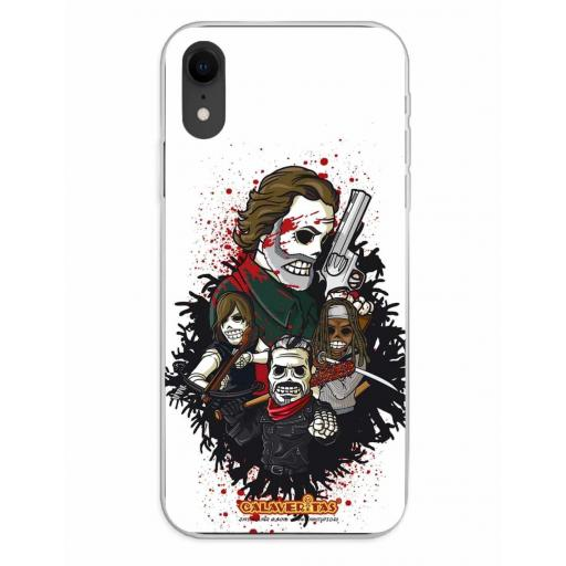 Apple iPhone XR Funda Silicona Calaveritas Survivors