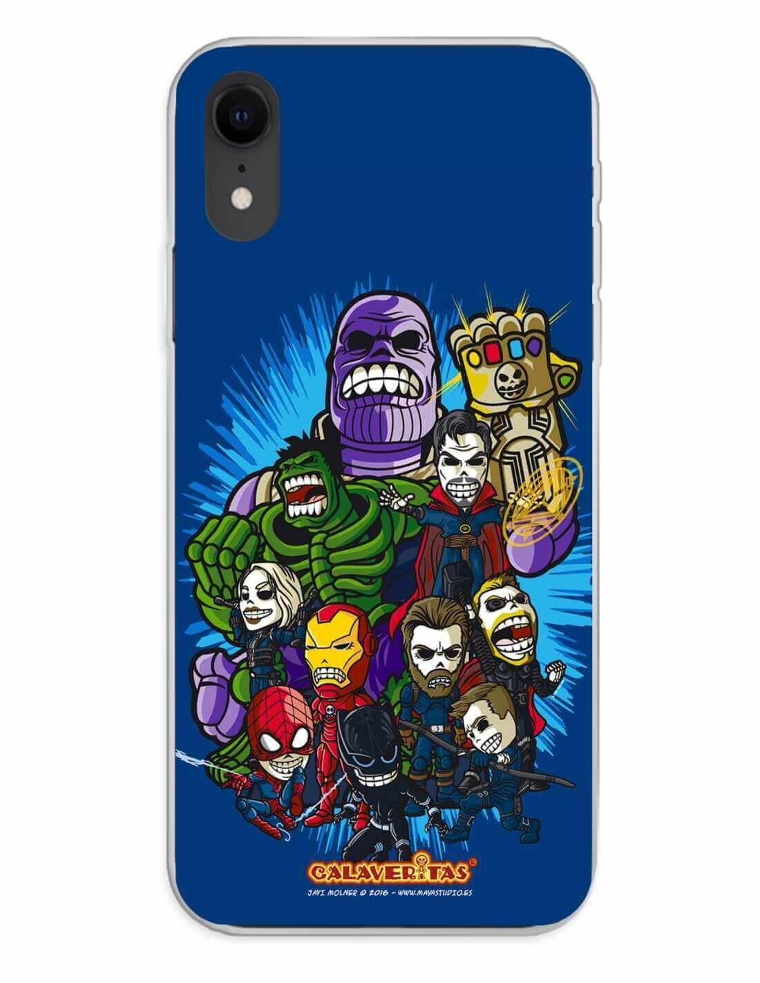 Apple iPhone XR Funda Silicona Calaveritas The Fighters