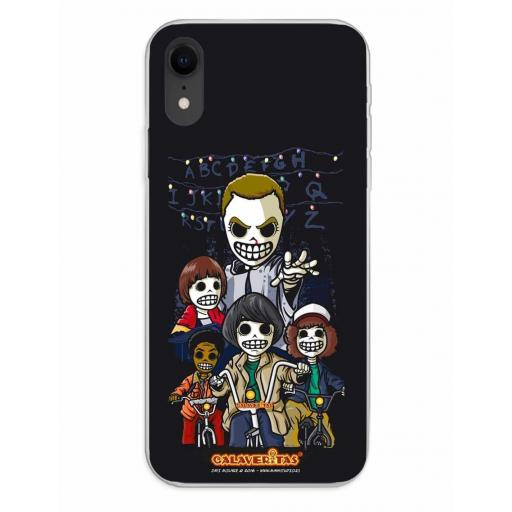 Apple iPhone XR Funda Silicona Calaveritas The Five [0]