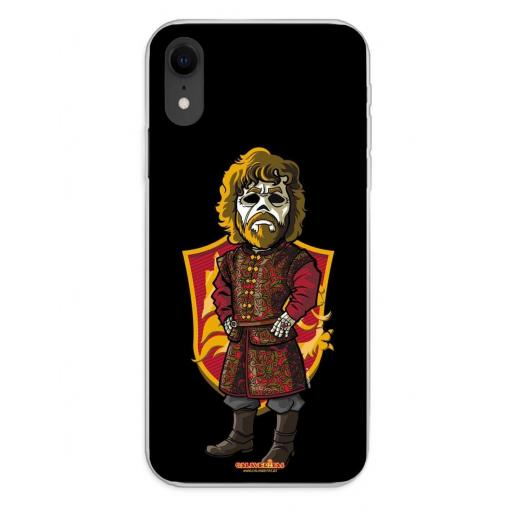 Apple iPhone XR Funda Silicona Calaveritas The King