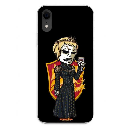 Apple iPhone XR Funda Silicona Calaveritas The Queen