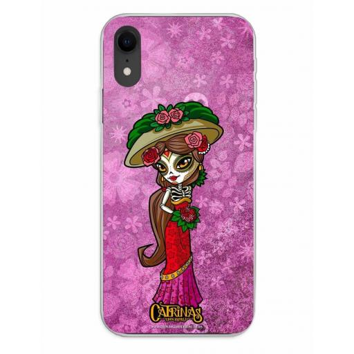 Apple iPhone XR Funda Silicona Catrinas Casandra