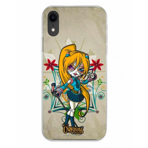 Apple iPhone XR Funda Silicona Catrinas Clarie