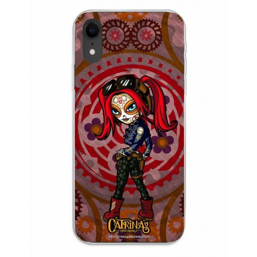 Apple iPhone XR Funda Silicona Catrinas Mary Jane