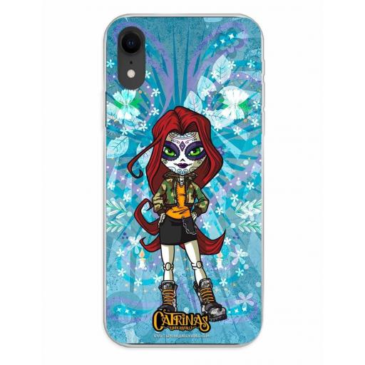 Apple iPhone XR Funda Silicona Catrinas Maya