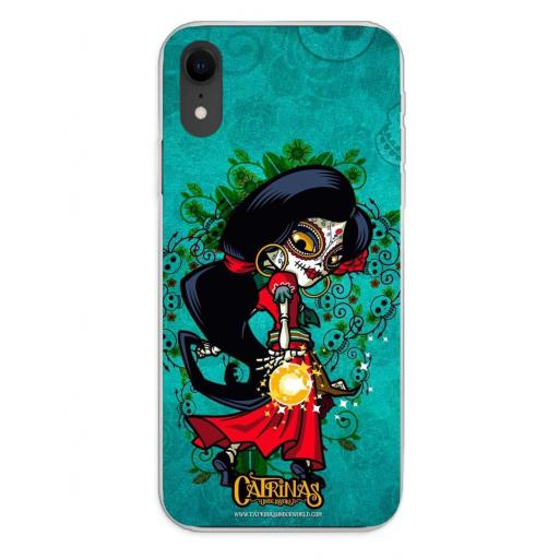Apple iPhone XR Funda Silicona Catrinas Rosabella