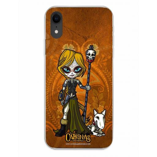 Apple iPhone XR Funda Silicona Catrinas Valeria