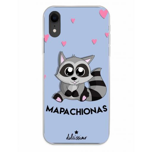 Apple iPhone XR Funda Silicona Dulcissimo Mapachionas