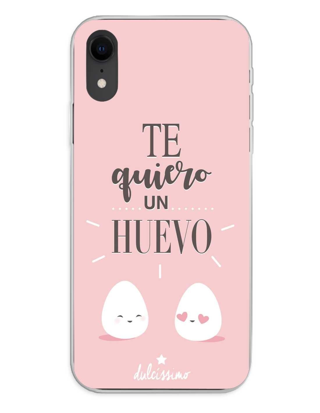 Apple iPhone XR Funda Silicona Dulcissimo Te quiero Un Huevo