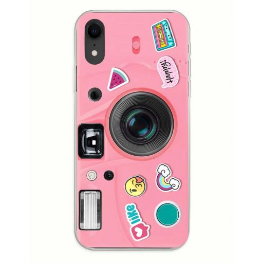 Apple iPhone XR Funda Silicona Emily in Love and Phone Rosa