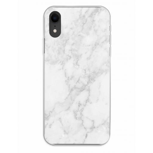 Apple iPhone XR Funda Silicona Fondos Mármol Gris