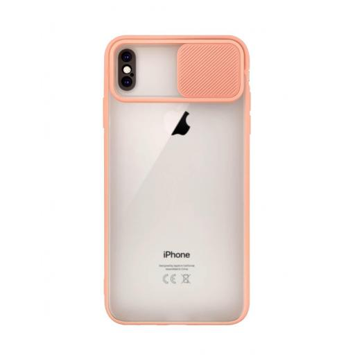 Apple iPhone XS Max Funda con Protección de Cámara Rosa