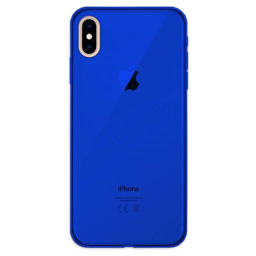 Apple iPhone XS Max Funda Silicona Azul