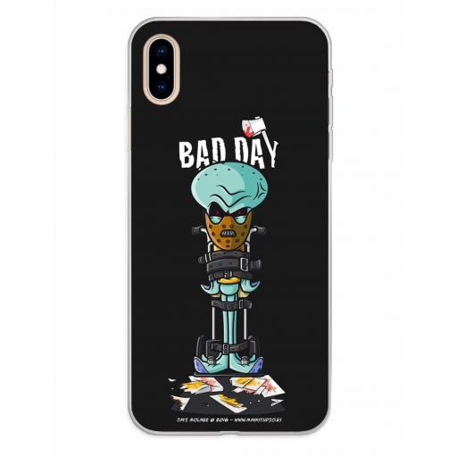 Apple iPhone XS Max Funda Silicona Bad Day Crazy