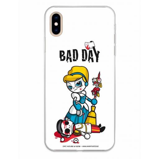 Apple iPhone XS Max Funda Silicona Bad Day Fatal Blonde