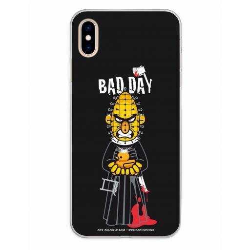Apple iPhone XS Max Funda Silicona Bad Day Hellstreet