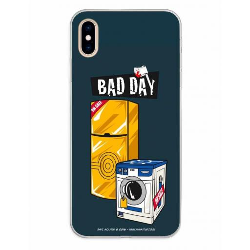 Apple iPhone XS Max Funda Silicona Bad Day Offer