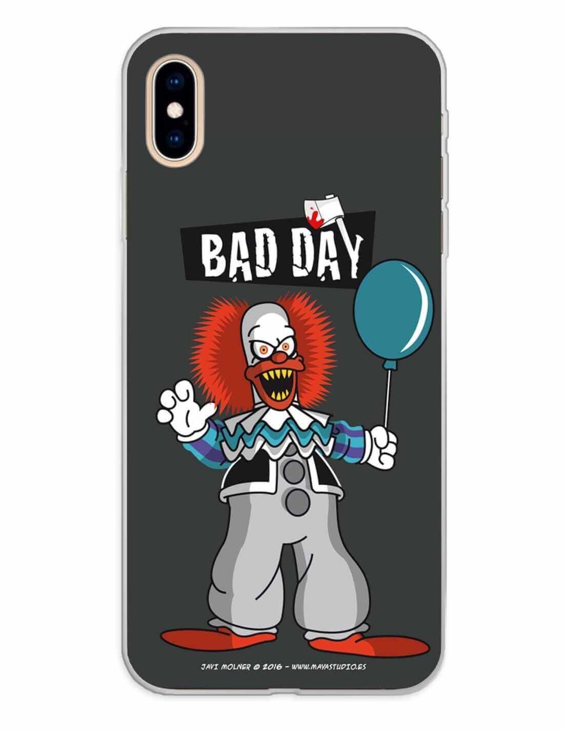 Apple iPhone XS Max Funda Silicona Bad Day Party