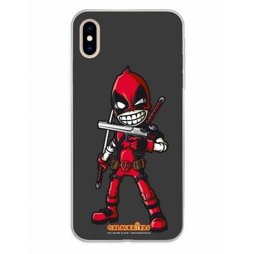 Apple iPhone XS Max Funda Silicona Calaveritas Red Devil