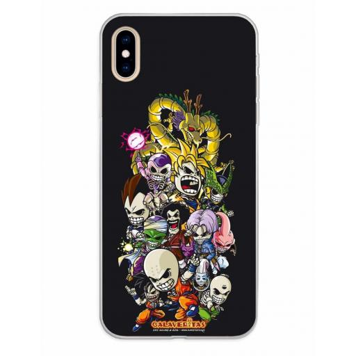 Apple iPhone XS Max Funda Silicona Calaveritas Skull Fighters 1