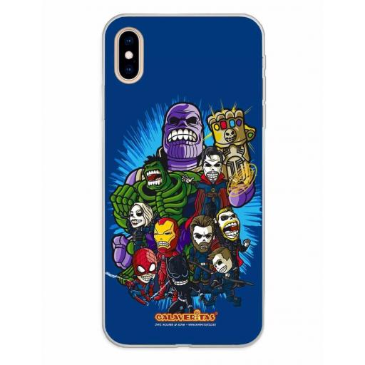 Apple iPhone XS Max Funda Silicona Calaveritas The Fighters [0]