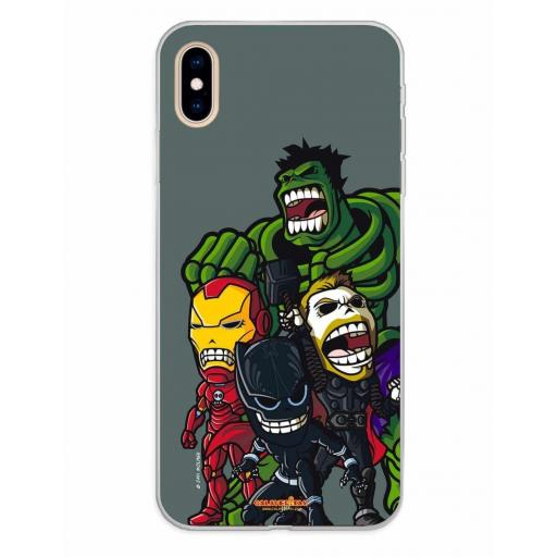 Apple iPhone XS Max Funda Silicona Calaveritas The Fighters 2