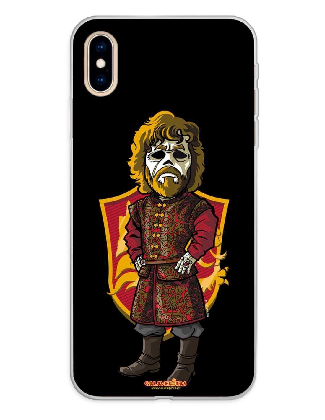 Apple iPhone XS Max Funda Silicona Calaveritas The King