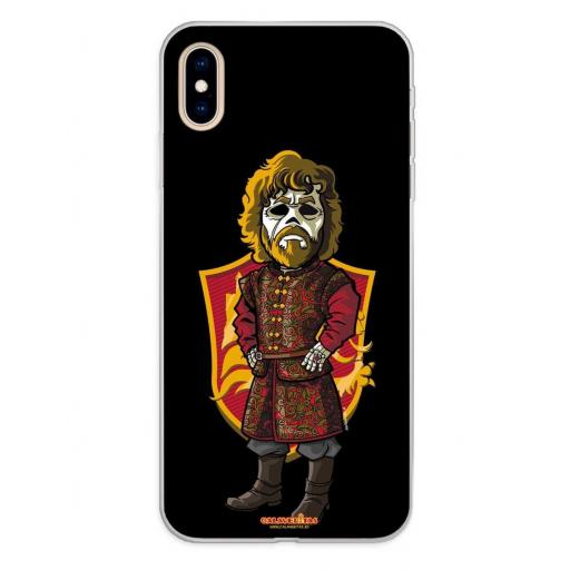 Apple iPhone XS Max Funda Silicona Calaveritas The King [0]