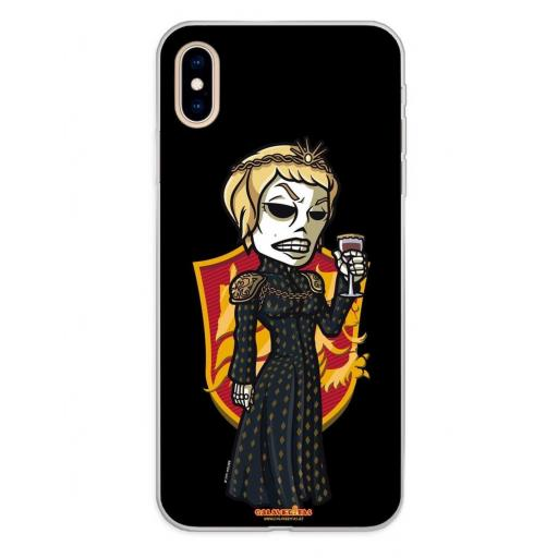 Apple iPhone XS Max Funda Silicona Calaveritas The Queen
