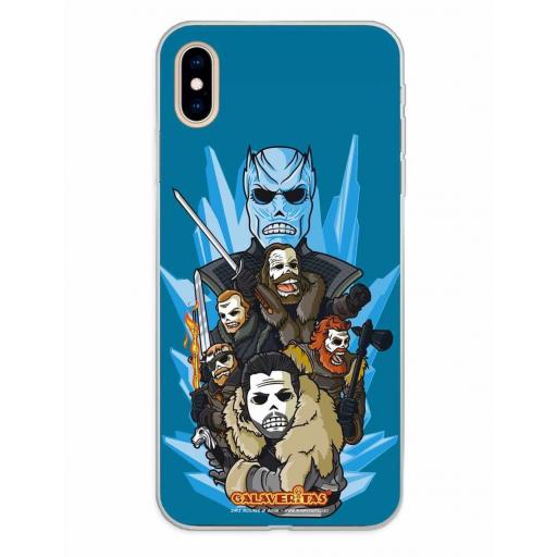 Apple iPhone XS Max Funda Silicona Calaveritas Valiants
