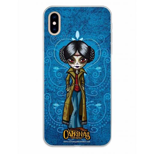 Apple iPhone XS Max Funda Silicona Catrinas Angélica