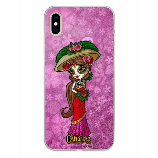 Apple iPhone XS Max Funda Silicona Catrinas Casandra