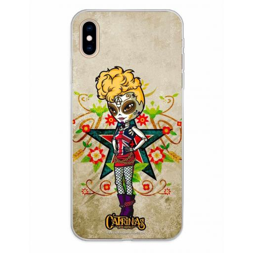 Apple iPhone XS Max Funda Silicona Catrinas Gwen