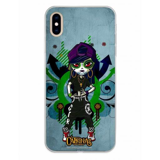 Apple iPhone XS Max Funda Silicona Catrinas Laia