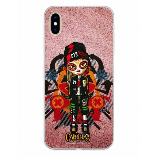 Apple iPhone XS Max Funda Silicona Catrinas Leire
