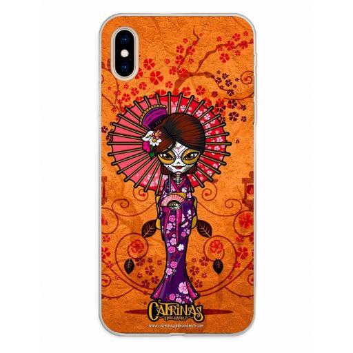 Apple iPhone XS Max Funda Silicona Catrinas Mariko