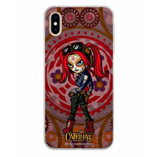 Apple iPhone XS Max Funda Silicona Catrinas Mary Jane