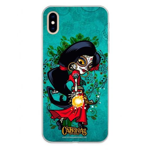 Apple iPhone XS Max Funda Silicona Catrinas Rosabella