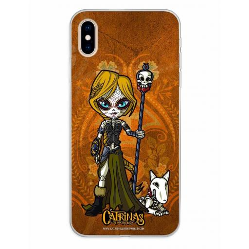 Apple iPhone XS Max Funda Silicona Catrinas Valeria