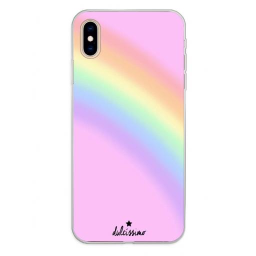 Apple iPhone XS Max Funda Silicona Dulcissimo Arcoiris