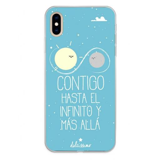 Apple iPhone XS Max Funda Silicona Dulcissimo Hasta El Infinito