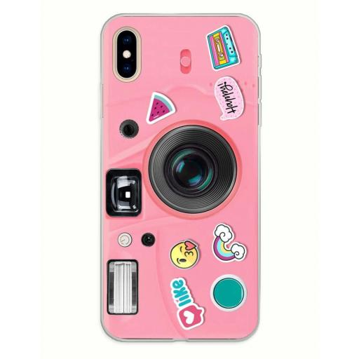 Apple iPhone XS Max Funda Silicona Emily in Love and Phone Rosa