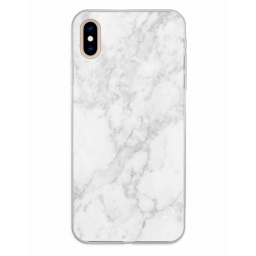Apple iPhone XS Max Funda Silicona Fondos Mármol Gris